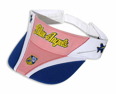 Blue Angels Royal, White and Pink Embroidered Visor