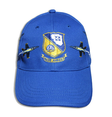 Blue Angels Royal Crest Breakout Embroidered Cap