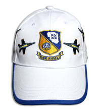 Load image into Gallery viewer, Blue Angels White Royal Crest Breakout Embroidered Cap