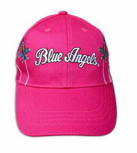 Load image into Gallery viewer, Blue Angels Embroidered Pink Youth Ball Cap