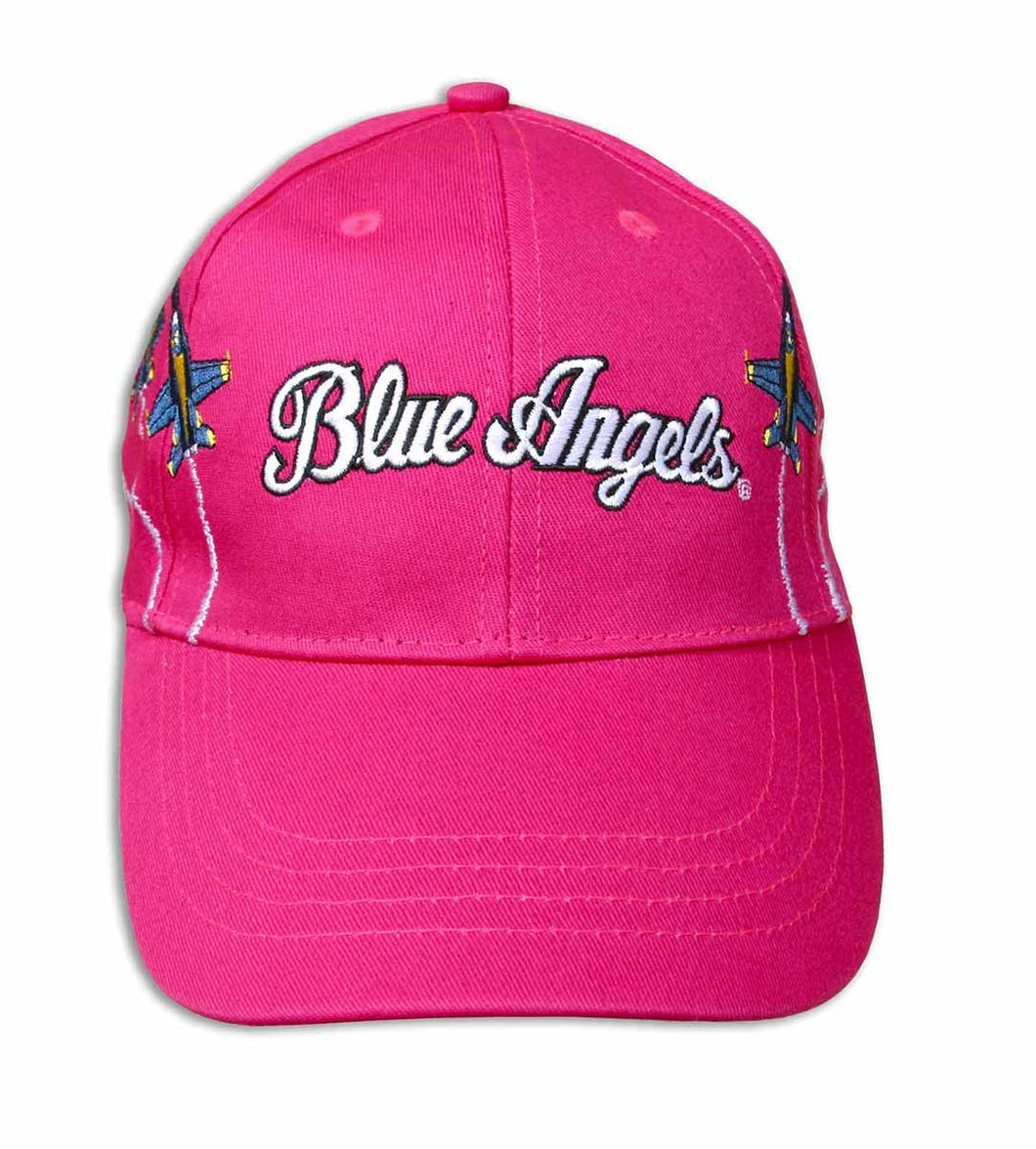 Blue Angels Embroidered Pink Youth Ball Cap