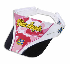 BLUE ANGELS Ladies Pink Camo Visor