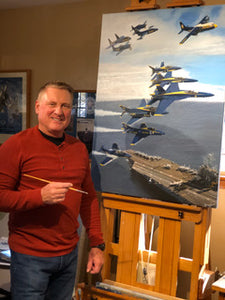 "Blue Angels 75th Anniversary ""Hellcats to Super Hornets"" Premier Edition Giclee"
