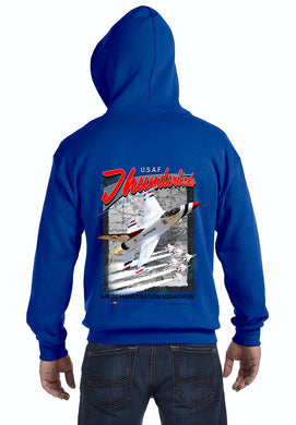 Thunderbirds Squadron Royal Zip Up Hoodie
