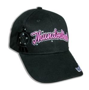 Thunderbirds Ladies Tonal Black & Pink Bling Embroidered Cap