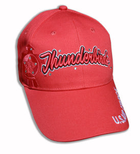 Thunderbirds Ladies Tonal Coral on Coral Bling Embroidered Cap