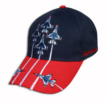 Load image into Gallery viewer, Thunderbirds Navy Red Diamond Solo Embroidered Cap