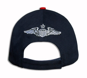 Thunderbirds Navy Red Diamond Solo Embroidered Cap