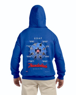 Thunderbirds Royal Historic Compass Pullover Hoodie