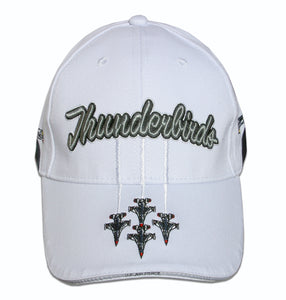 Thunderbirds White Tri-Color Embroidered Cap