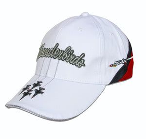 Thunderbirds White Tri Color Embroidered Cap