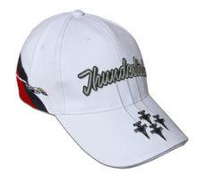 Load image into Gallery viewer, Thunderbirds White Tri-Color Embroidered Cap