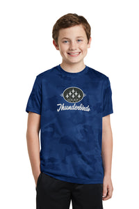 Youth Navy Blue Camo Dry Fit T-Shirt
