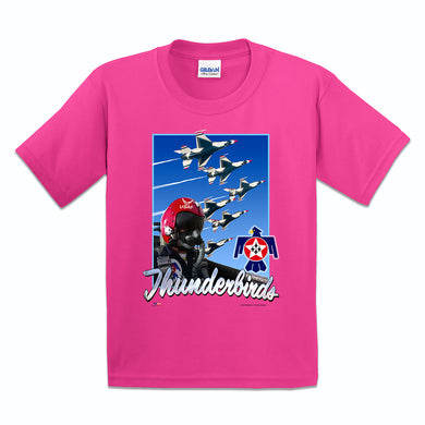 Thunderbirds Girls Youth Pink T Shirt