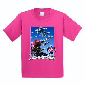 Thunderbirds Girls Youth Pink T-Shirt