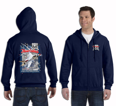 Thunderbirds 66th Anniversary Adult Zip-up Hoodie