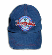 Load image into Gallery viewer, Thunderbirds Distresses Relaxed Fit Denim Embroidered Cap