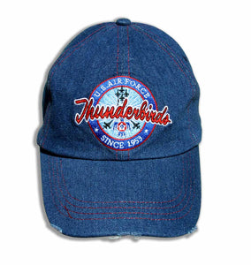 Thunderbirds Distresses Relaxed Fit Denim Embroidered Cap