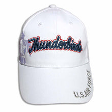 Load image into Gallery viewer, Thunderbirds White Navy Tonal Embroidered Cap
