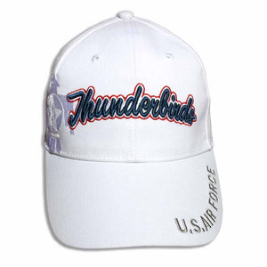 Thunderbirds White Navy Tonal Embroidered Cap