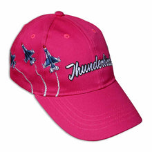 Load image into Gallery viewer, Thunderbirds Embroidered Pink Youth Ball Cap