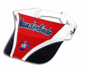 Thunderbirds Red, White & Navy Embroidered Visor