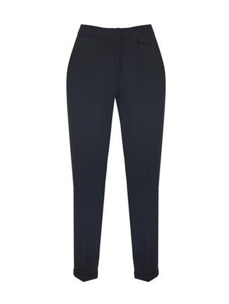 % 100 WOOL DOUBLE CUFF PENCIL TROUSERS