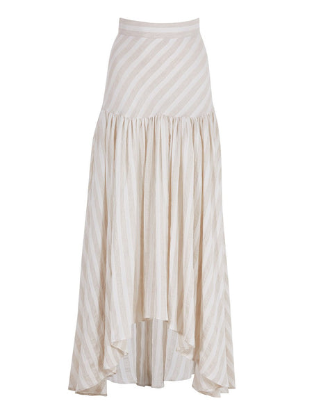 LINEN FIXED WAIST ROUND SKIRT