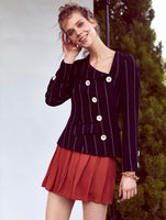 ONE SHOULDER SIDE BUTTONED JACKET