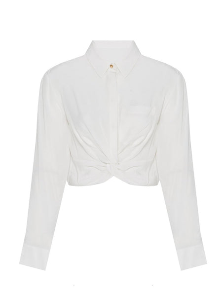 CROP COTTON SHIRT