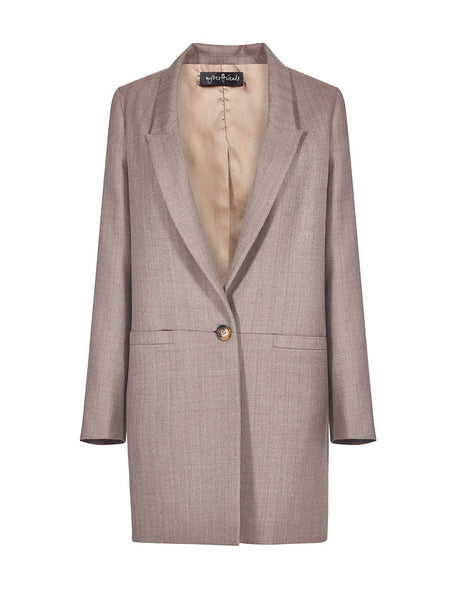 ONE BUTTONED DETAIL OVERSIZE JACKET