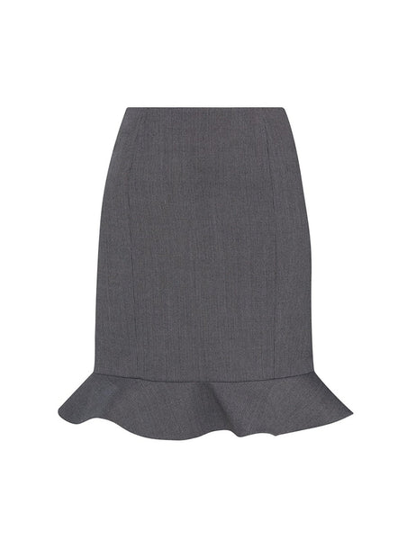 SKIRT WITH FRILLED HEMLINE