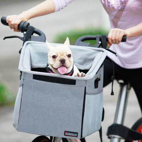 Pet Carrier Bicycle Basket Bag Pet Carrier/Booster Backpack with Big Side Pockets