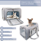 BARKBAY Pet Carrier Airline Approved 17.52Lx10.83Wx11.42H in