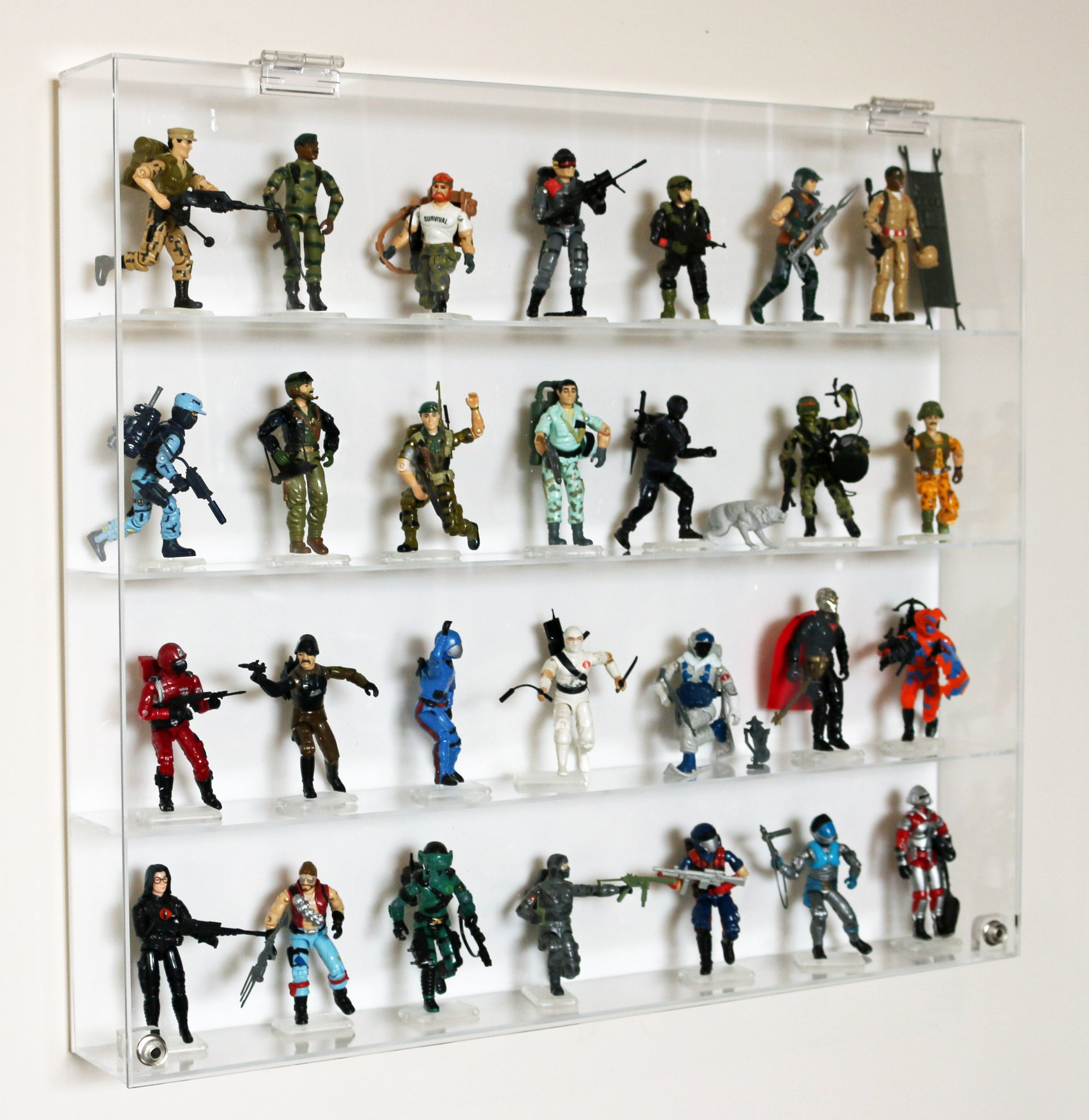 "Premium Display Case for 3-3/4"" GI Joe Action Figures - T3MS"