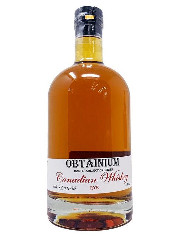 Cat's Eye Distillery 14 year Obtanium Canadian Rye Whisky 144 Proof 750ml