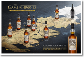 "Game of Thrones Cardhu Gold Reserve ""House Targaryen"" Single Malt Scotch 750ML"