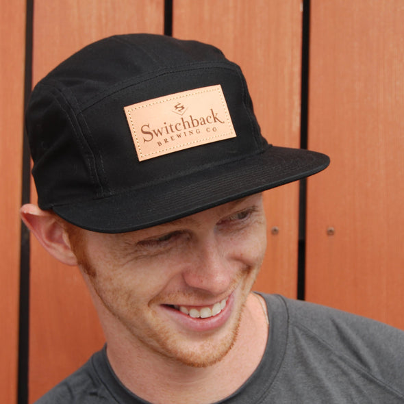 5-Panel Logo Hat | Black
