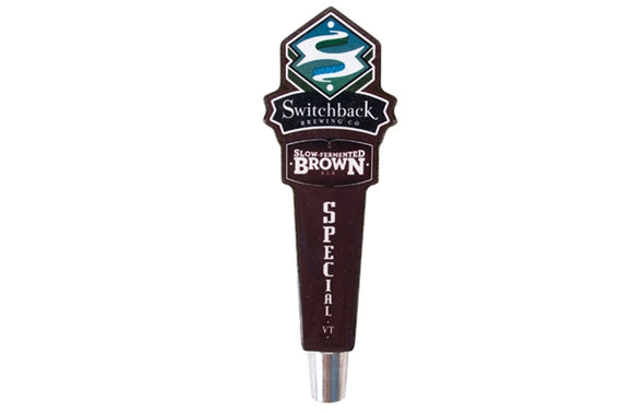 Slow Fermented Brown Ale Short Tap Handle