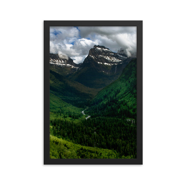 Glacier Park Framed photo paper poster
