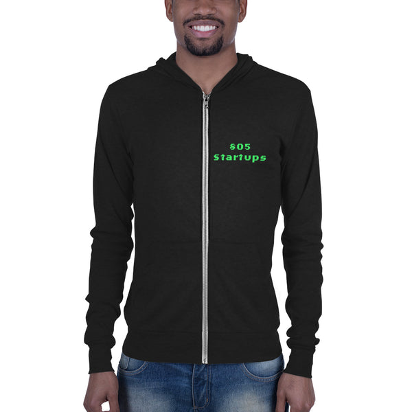 805 Startups - Fight the Status Quo - Unisex lightweight workout zip hoodie