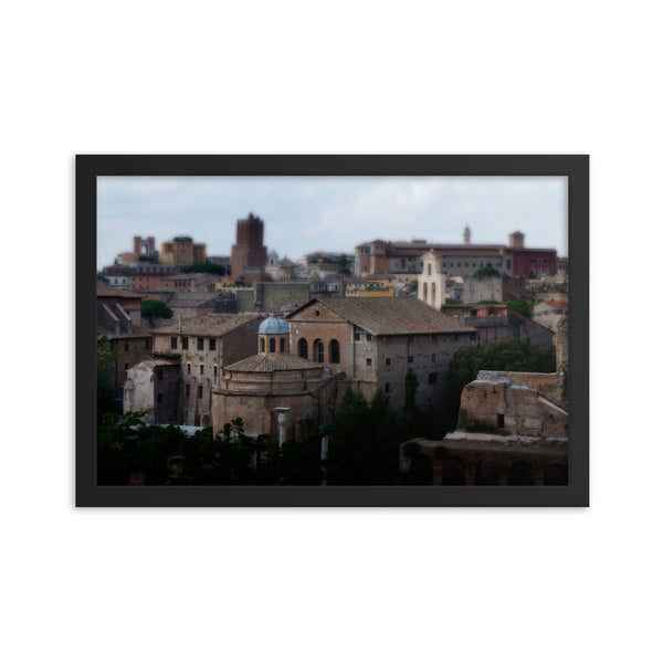 Italian Views Framed photo paper poster