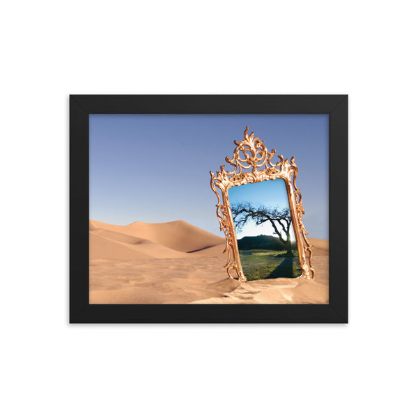 A Touch of Glass Framed photo paper poster