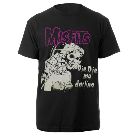 Misfits Die Die My Darling Black Tee-The Misfits