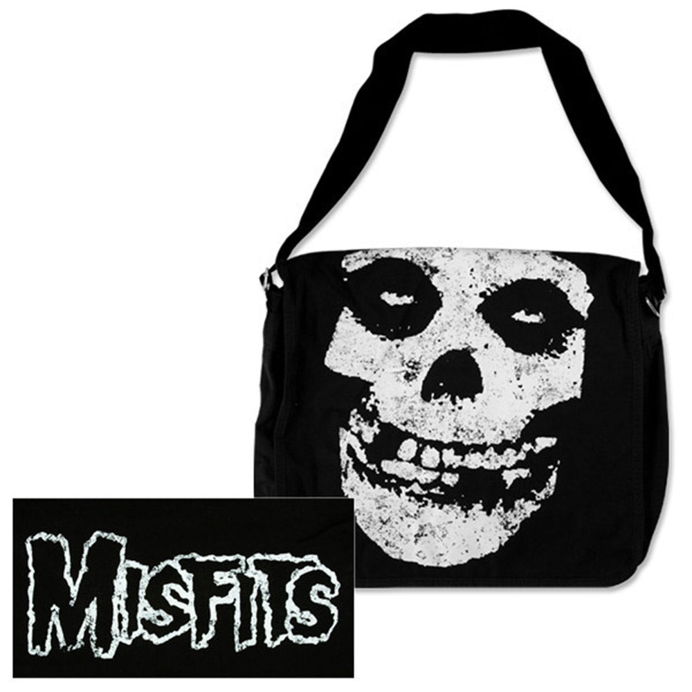 Misfits Skull & Logo Messenger Bag-The Misfits