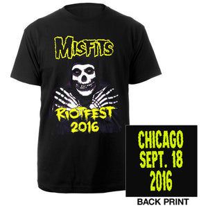 Misfits 2016 Riotfest Chicago Tee-The Misfits