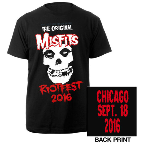Misfits Riotfest 2016 Chicago Tee-The Misfits