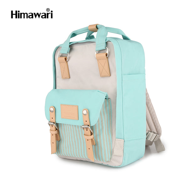 Himawari Laptop/School BackPack Donut Series - Mint with Stripe