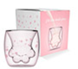 Cute Kitty's Paw Glass Cup