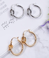 Knotted round personality earrings